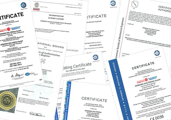 گواهینامه ها و استانداردها